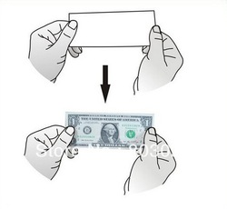Free Shipping Novelty Magic Trick Toy Paper Becomes Money, Cute Toy Tricks For Fun(China (Mainland))