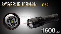 5PCS/LOT SKY-EYE CREE XML U2 5-Mode 1600 Lumen 18650/26650/3xAAA LED Flashlight Torch F13