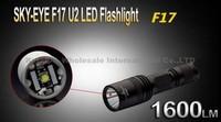5PCS/LOT SKY-EYE CREE XML U2  5-Mode 1600 Lumen 18650 LED Flashlight Torch F17