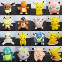 Pokemon cartoon model toy doll thatmany 15 piggy bank  8pcs/set