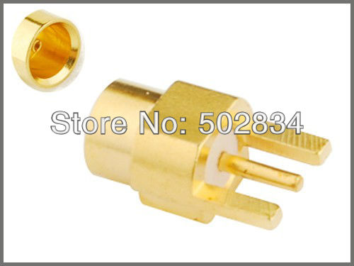 10pcs/lot RF Coaxial Connector MMCX Straight Edgecard female panel mount connector Adapter(China (Mainland))