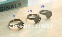 Inner 10MM Round Blank Ring Base Wholesale Custom DIY Jewelry Component Accessary Cabochon Base Ring Settings YY22