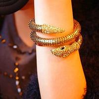 Fashion Punk Rhinestone Multi-layer Serpiform Female Bracelet Vintage Snake Bangles (can mix order)