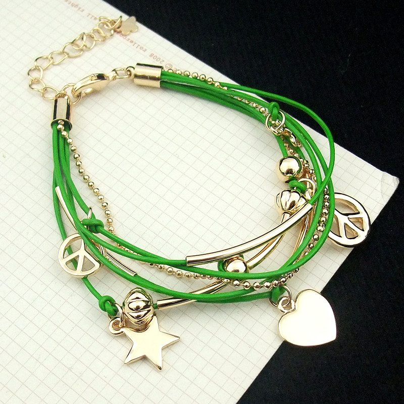 Accessories love media multi-layer bracelet female personality(China (Mainland))