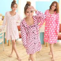 FREE SHIPPING! Women's lounge velvet loose sleepwear princess long-sleeve nightgown female