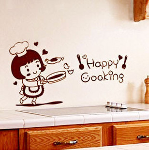 In-law opportunely a fashion oil refrigerator kitchen cabinet tile personalized diy wall stickers nose(China (Mainland))