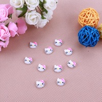 100X 3D Hand Painted Nail Resin  Pink Cat Nail Art Decorations wholesales