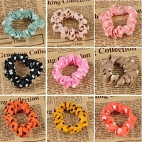 candy colour high elastic rubber hair band rope NC098 hair jewelry wholesale Garland dots headband