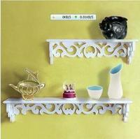 Fashion cutout rustic shelf diaphragn wall shelf rack decoration shelf set