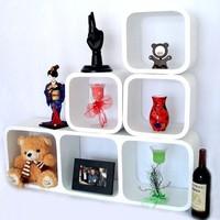 Three -piece set of denim closet clapboard home decorative wall shelf wall shelf wall shelf