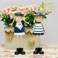 Navy metal doll fashion home decoration gift birthday wedding gift