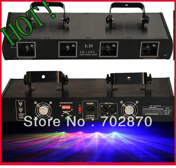 Factory price and High Quality! 800mw RGYB moving head stage lighting laser DJ Christmas light(China (Mainland))