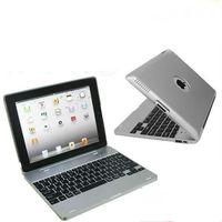 Become Notebook Wireless Bluetooth Keyboard Case 4000mAh Battery For iPad3 iPad2