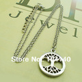 Free shipping life tree shape fashion rhodium plating top quality alloy necklace