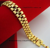 Alluvial gold 18k bracelet gold Men gold bracelet durable box