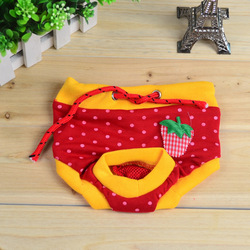 free shipping pet dog red yellow dot cat physical pant clothes/ pet dresses/ docorative SIZEF S/M/L(China (Mainland))