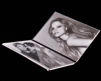 Modern Fashion Small Transparent Vinyl Photo Frame for Two Pictures Drop Shipping TC-X021
