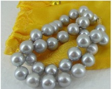 cheap grey pearl necklace
