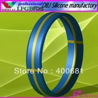 Sample Order Free Shipping Sweden National Silicone Wristband/Bracelet(FDA, LFGB)