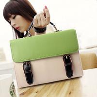 Fashion Green & Beige Ladies Girls Women's Handbag Totes Bag Clutch Purse, Free Shipping + Wholesale!