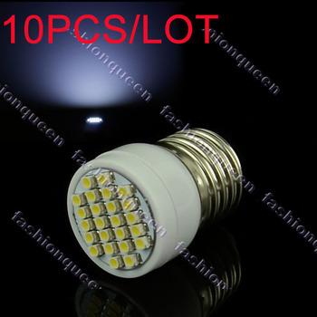 10PCS/LOT 200V-240V/2W E27 led bulb lamp corn light 24 SMD3528 Cold White Lamp light 11863