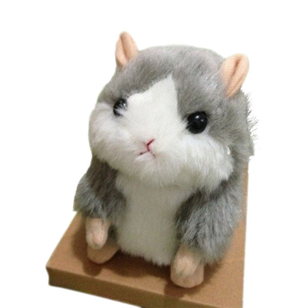 Mimicry Pet Hamster Talking Plush Animal Toy Mouse Hamster Toys Doll Gray Free shipping & wholesale(China (Mainland))