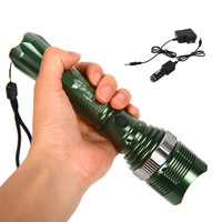 12W 1800lm CREE XM-L Q5 LED Zoomable Rechargeable Flashlight Torch Zoom IN/OUT # L01484