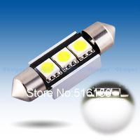 2pcs  36mm 3 SMD Pure White Dome Festoon CANBUS Error Free Car 3 LED Light Bulb Lamp Interior Lights C5W Led