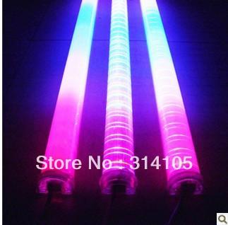 DMX RGB LED digital tube, AC80-260V input, 108pcs led IC,12W,IP67 with aluminum base,milky white tube ,Fedex free shipping(China (Mainland))