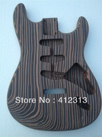 Hot selling ST electric guitar with zebra wood  body  S_S_S rounting for pickups