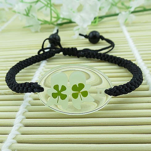 Luminous bracelet luminous accessories black knitted hand-rope small accessories constellation pendant(China (Mainland))