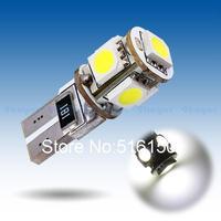 2pcs  T10 5 SMD Pure White CANBUS Error Free Interior Car W5W 5 LED Light Bulb Lamp Interior Lights Instrument 194/501