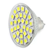 New MR16 GU5 3 4 5W 380 Lumen 30 5050 SMD LED White Light Bulb DC 12V