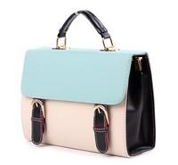 Free Shipping + Wholesale! Blue & Beige Fashion Ladies Girls Women's Handbag Shoulder Bag Shopping Tote