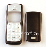 Black Housing Housings Cover Case + Keypad for  Nokia 1100 ( with logo) free shipping