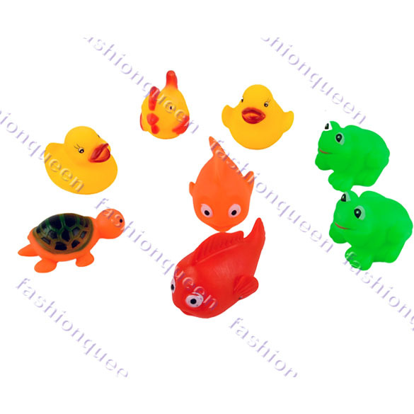8pcs/Set New Arrival Mixed Different Styles Bath Toy Animal Bath Washing Sets Bath Children Education Toys 12072(China (Mainland))