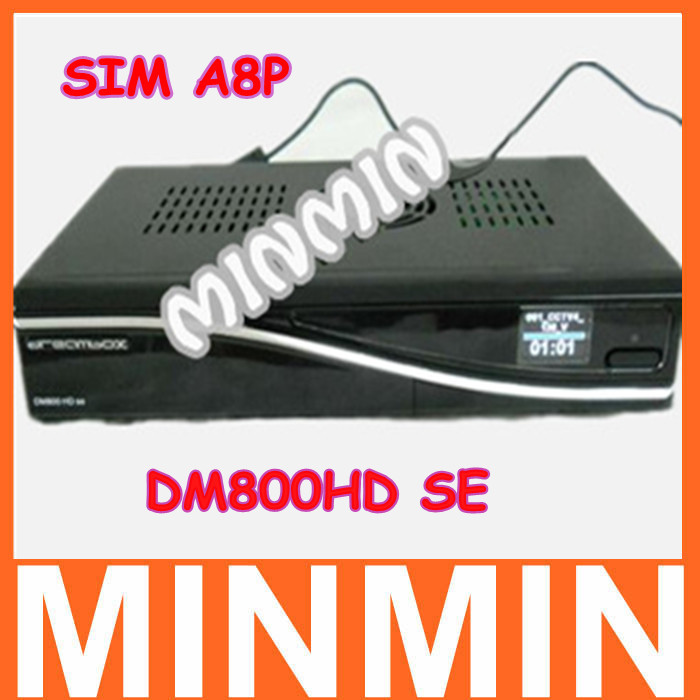 Latest 800SE DM800HD SE Sim A8P D6 Version digital satellite receiver HD dreambox BCM4505 tuner Fedex Freeshipping(China (Mainland))