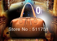 New arrival 2013 fashion cow leather genuine leather handbags brand designer princess shoulder bags for women,retail