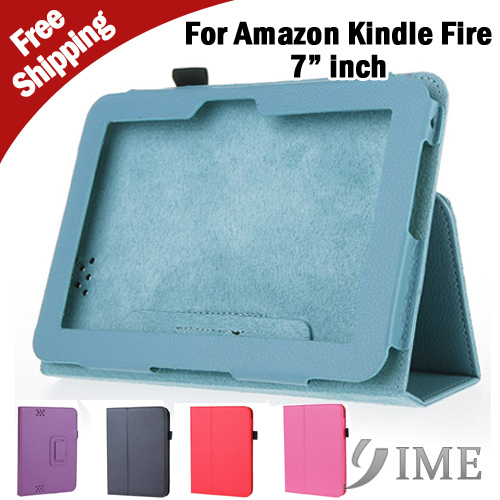 "For Amazon Kindle Fire HD 7"" Tablet PC PU Leather Flip Case Skin Cover with Stand Black/Blue/Red/Rose/Purpele,Free shipping(China (Mainland))"