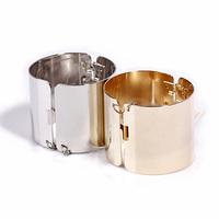 Free Shipping Mirrored 14K Gold Plated Silver Punk Metal Cuff Bangle Bracelet B2-139