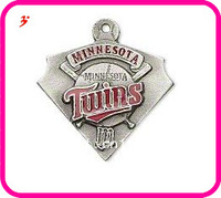 Free shipping 10pcs a lot sport enamel Minnesota Twins baseball team logo charms