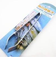 Hair clip stainless steel fish bone plier pig hair clip wool tweezed fish bone clip