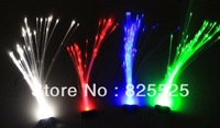 Factory direct Sale!!!Light Up LED Hair Extension Flash Braid Party Hair Glow by fiber optic free shipping~~