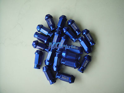 20 X JDM D1 Spec Racing Lug Wheel Nuts Screw 1.25 CAR For Suzuki Mazda Blue(China (Mainland))