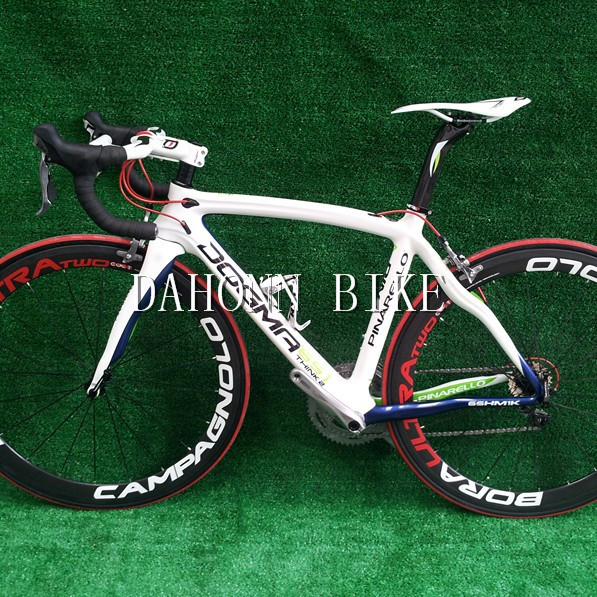 Free shipping!Wholesale 65.1 think2 2013 pinarallo carbon whole white bicycle(China (Mainland))