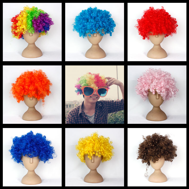 Halloween wig fans wig afro wig hair set afro curly hair wig clown(China (Mainland))