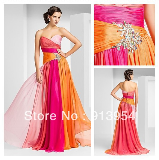 Angel Bridal 2013 New Sheath/Column Sweetheart Floor-length Chiffon Evening Dress #00490629 Custom(China (Mainland))