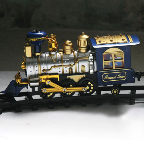 Child electric toy train track toy classic remote control train track large paragraph(China (Mainland))