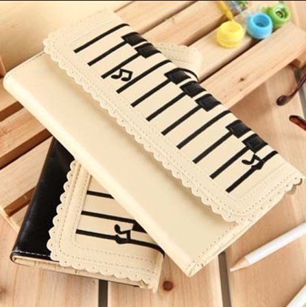 2012 piano keys notes women's wallet long design wallet female card holder women's bag(China (Mainland))