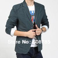 wholesale plus size M-5XL new 2014 spring Male Slim Suit jacket Mens Blazer Jacket Coat men's suits blaser Free shipping B1081